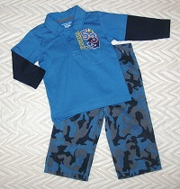 Wonderkids Baby Toddler Boy Blue 2PC Set 18MTH