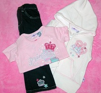 KidZone Baby Toddler Girl 3PC Princess Set  2T