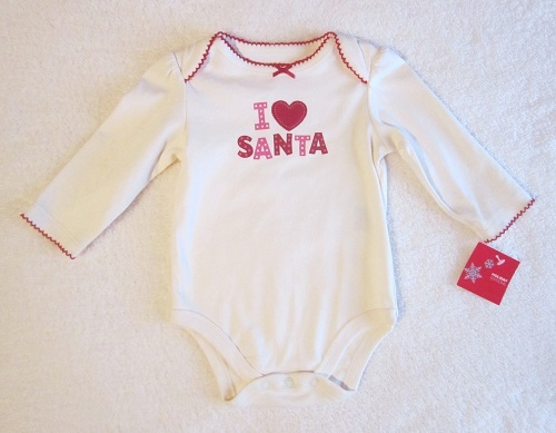 Christmas Holiday Editions Infant Baby Girl I Love Santa Onesie 3-6MTH