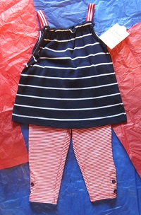 4th of July Carter's Baby Toddler Girl 2PC Set 12MTH