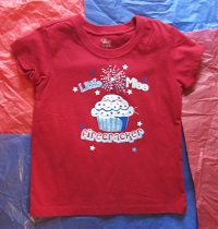 "4th of July The Children's Place Toddler Girl Red ""Little Miss Firecracker"" Shirt 3T"
