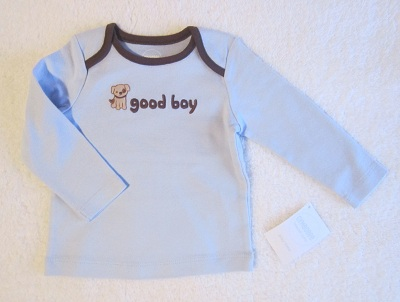 "Gymboree Infant Baby Boy Blue ""good boy"" Shirt 6-12 MTH"