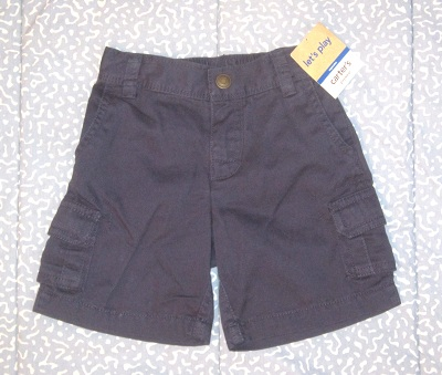 Carter's Baby Toddler Boy Navy Blue Shorts 18MTH