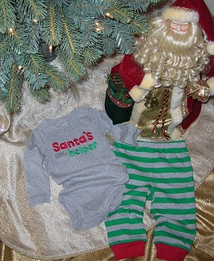 Christmas Carter's Infant Baby Boy Santa's Helper Outfit 9MTH