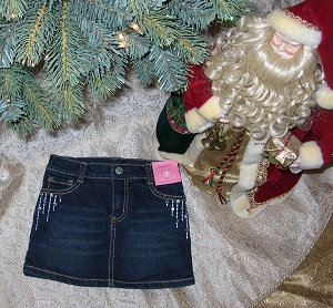 "Gymboree Toddler Girl Denim Skirt with ""Jewels"" 3T"