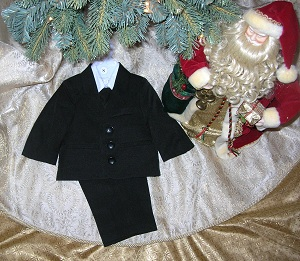 Sweet Kids Infant Baby Boy Black 5PC Suit 12MTH
