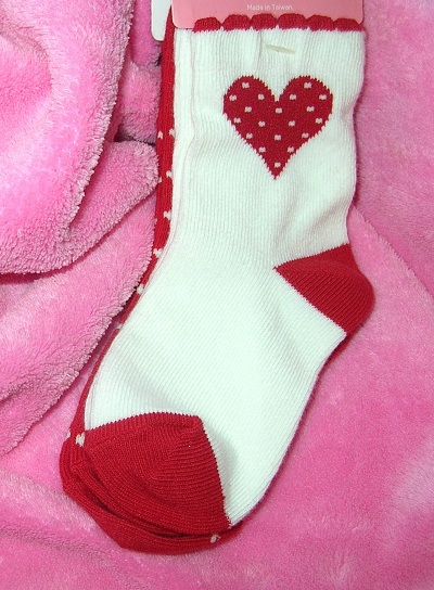 Gymboree Infant Baby Toddler Red & White Heart & Polka Dot Socks 12-24MTH