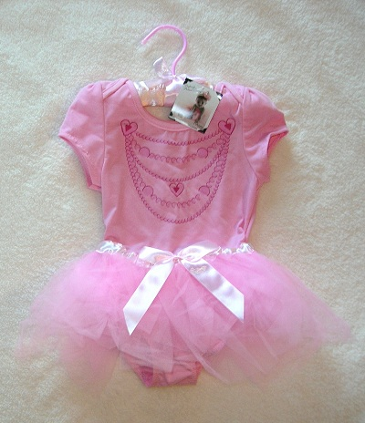 Princess Expressions Infant Baby Toddler Girl Pink Tutu Outfit 12-24MTH