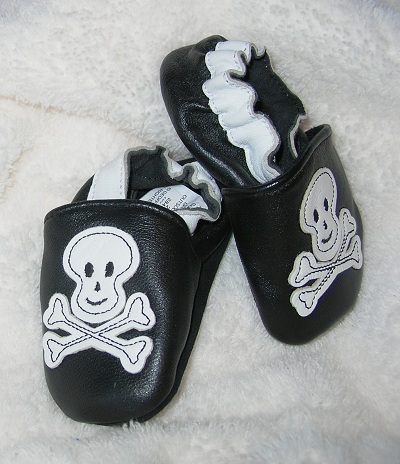 Koala Baby Toddler Girl Boy Black Shoes w/Skeleton 12-18MTH