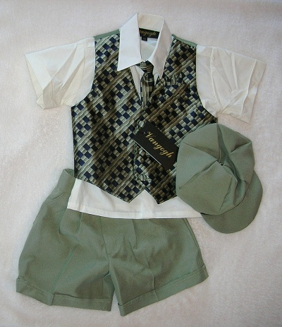 Vangogh Baby Toddler Boy 5PC Neutral Tones Suit 2T