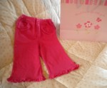 The Children's Place Infant Baby Girl Pink Ruffled Pants 6-9MTH