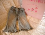 The Children's Place Baby Toddler Girl Ruffled Jeans 12MTH