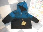 The Children's Place Infant Baby Boy Hooded Waves Sweatshirt 6-9MTH