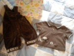 Gymboree Infant Baby Boy Corduroy Overalls & Shirt 0-3MTH