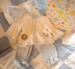 Little Me Infant Baby Boy 3PC Outfit with Hat Blue 6MTH