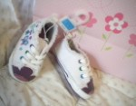 The Children's Place Infant Baby Girl White & Purple Sneaker 6-12MTH