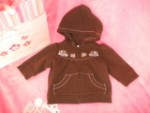 Gymboree Infant Baby Girl Brown Hooded Sweatshirt 3-6MTH