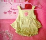 Gymboree Infant Baby Girl Green Polka Dot Outfit 0-3MTH