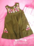 Gymboree Toddler Girl Green Dress with Flowers Size 2T