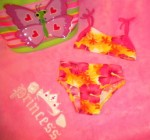 Koala Kids Baby Girl Pink/Yellow/Orange Floral Bikini 12MTH