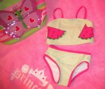 Koala Kids Infant Baby Girl Green Striped Watermelon Bikini 6-9MTH