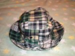 Gymboree Infant Baby Boy Green Plaid Sunhat 0-12MTH