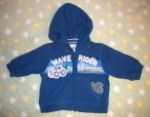 The Children's Place Infant Baby Boy Hooded Wave Rider Sweatshirt 3-6MTH