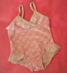 Circo Infant Baby Toddler Girl Pink & White Hearts Bathing Suit 12MTH