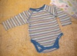 The Children's Place Infant Baby Boy Striped Long Sleeve Onesie 3-6MTH