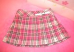 The Children's Place Infant Baby Girl Pink/Grey Plaid Skirt 0-3MTH