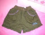 The Children's Place Infant Baby Girl Green Shorts w/Ruffles 0-3MTH