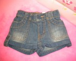 The Children's Place Infant Baby Girl Denim Shorts 6-9MTH