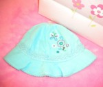 The Children's Place Infant Baby Girl Teal Sunhat 3-6MTH