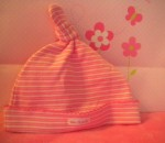 The Children's Place Infant Baby Girl Pink Knotted Hat  6-12MTH