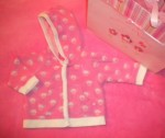 The Children's Place Infant Baby Girl Pink Hooded Bee Jacket 3-6MTH