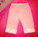 Gymboree Infant Baby Girl Reversible Pink Giraffe Pants 3-6MTH