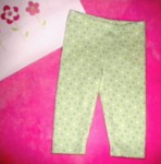 Gymboree Infant Baby Girl Green Polka Dot Leggings 0-3MTH