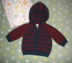 Gymboree Infant Baby Boy Navy/Burgundy Striped Sweater 0-3MTH