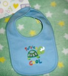 "Infant Baby Boy Blue ""Turtley Cool"" Bib 6-9MTH"