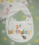 Gymboree Infant Baby Girl Boy 1st Birthday Bib