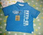 The Children's Place Infant Baby Boy Blue Phys-Ed Shirt 6-9MTH