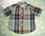The Children's Place Infant Baby Boy Plaid Short Sleeve 6-9MTH