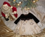 Christmas Rare Editions Brown & Gold Holiday Dress 18MTH