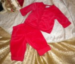 Christmas Small Wonders Infant Baby Boy Girl Red Holiday Set 3-6MTH