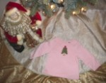 Christmas Gymboree Baby Toddler Girl Pink Shirt w/Christmas Tree 12-18MTH