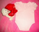 Little Miss Attitude Infant Baby Girl Light Pink One Piece 12MTH