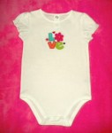 "Jumping Beans Baby Toddler Girl White ""Love"" Onesie 18MTH"