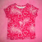 The Children's Place Baby Toddler Girl Bright Pink Hearts Shirt 24MTH