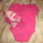 Little Miss Attitude Infant Baby Girl Bright Pink One Piece 6-9MTH