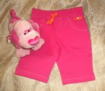 Carter's Baby Toddler Girl Bright Pink Capri Pants 18MTH